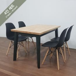 Miso-4-Black-BB-Black  Dining Set