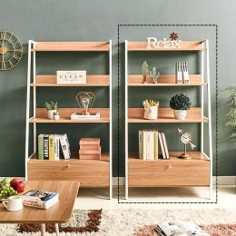 SLR-1D-Ivory-80-Oak Wall Unit  (1-서랍)