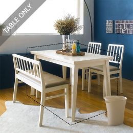 Miso-4-Ivory  Dining Table    (4인용)