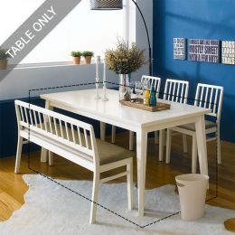 Miso-6-Ivory  Dining Table   (6인용)