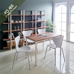 iK-12i-Oak-Emma-4 Dining Set(1 Table + 4 Chairs)