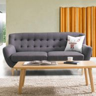 Oswald-Grey  3-Seater Sofa