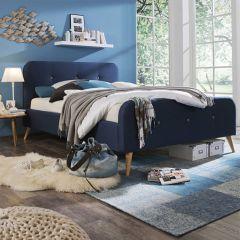 Agnes  Queen Bed w/ Wood Slats