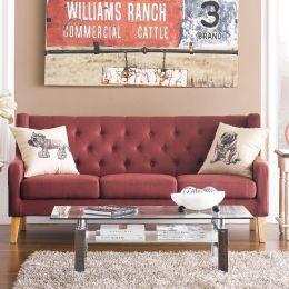 Alfred-Rusty  3-Seater Sofa