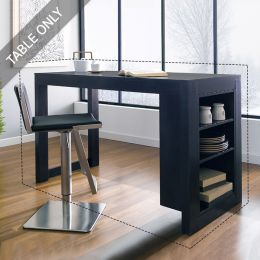 D390-4-Black-IT  Island Table  (Table Only)