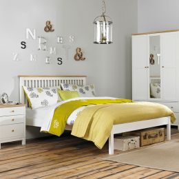 Atlanta-Two Tones Queen Bed w/ Slats