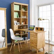 NB-Natural-HDB  Desk w/ Bookcase