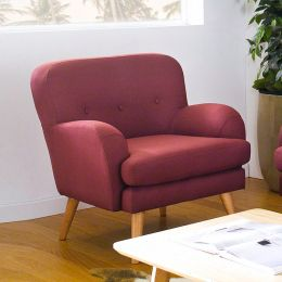 Hobart-C-Red Single Chair