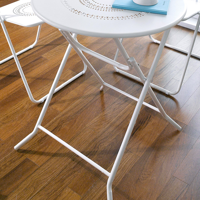 <b> DS26185A-White </b> Folding 2-Chair & Table set