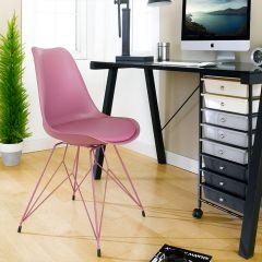 Eiffel-Dark Red  Chair