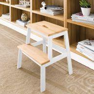Step Ladder-White  Multi Stool