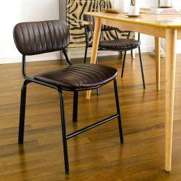 Veronica-Brown  Metal Chair