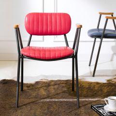 Miranda-Red  Metal Chair