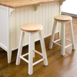 Roommate-White-ST   Wooden Stool