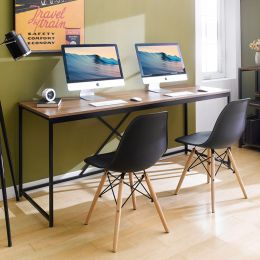 MD-1800-Black  Metal Large Desk