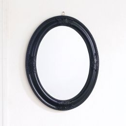 Livia-Black Oval Wall Mirror