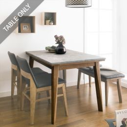 Zodax-4-Walnut-Grey Marble-D  Dining Table