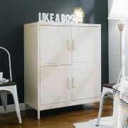 LLC-112-Ivory  Metal Cabinet
