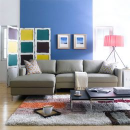 Avio-PU  Leather-Look Sofa w/ Chaise