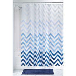 37380EJ  Ombre Chevron PEVA Shower Curtain