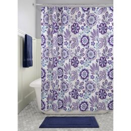 61020EJ  Luna Floral Shower Curtain