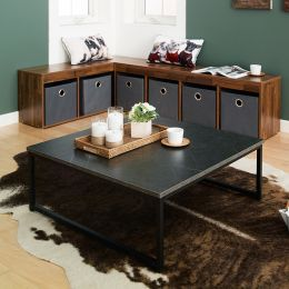 T-790-Black-Grey Marble  Coffee Table