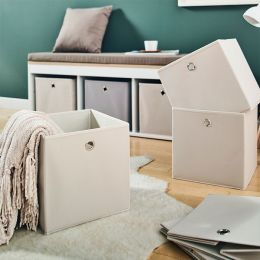 YK-0210011-Beige  Foldable Box