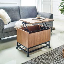 Lift-Up-Small-CSR Lift Sofa Table w/ Caster