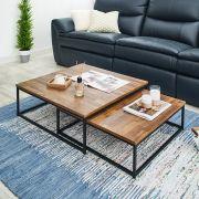 Zio-Black Expandable Table  (2 Pcs)