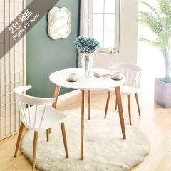 Mar-TC-Wht-2  Dining Set (1 Table + 2 Chairs)