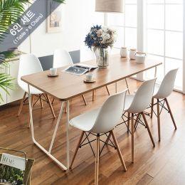 IK-Large-Ivy-Oak-6C  Dining Set
