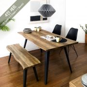 DT-1417-LIVA-2 Dining Set (1 Table + 2 Chairs + 1 Bench)