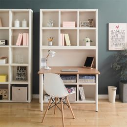 POP-Ivy-DB-80  Desk & Bookcase  (23t Top)