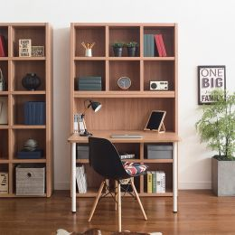 POP-Oak-DB-80  Desk & Bookcase  (23t Top)