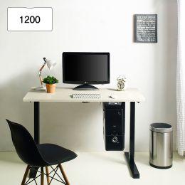 Oxford 1200-Bk-Ivory top Motion Desk