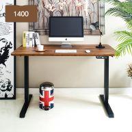 Oxford 1400-Bk-Acacia top Motion Desk