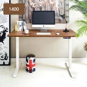 Oxford 1400-Iv-Acacia top Motion Desk