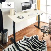 Oxford 1400-Bk-Ivory top Motion Desk
